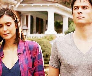 couple, damon salvatore, and gif image