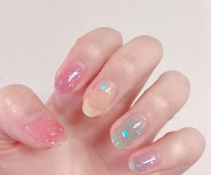 aesthetic, nails, and glitter image