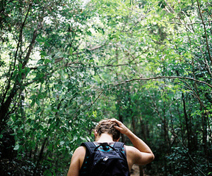 boy, beautiful, and forest image