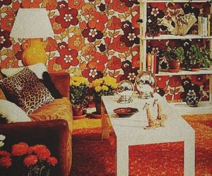 70s, flowers, and room image