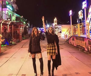 best friends, hanging out, and carnival image