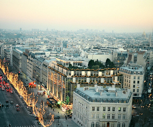 city, paris, and light image