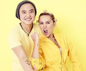 yellow aesthetic, miley cyrus, and yellow image
