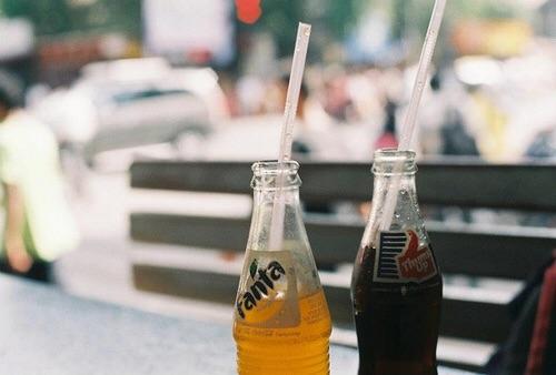 vintage, fanta, and drink image