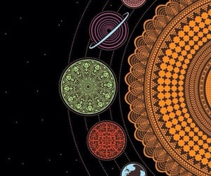 wallpaper, planet, and mandala image