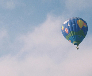 sky, balloon, and vintage image