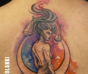 bodyart, colourful, and zodiacsign image