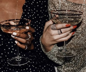 fashion, drink, and nails image