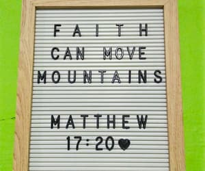 bible verse, matthew 17:20, and august verse image