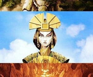 avatar, aang, and kyoshi image