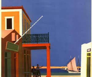 1950, mediterranean, and poster image
