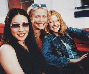 cameron diaz, drew barrymore, and charlie's angels image
