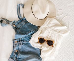 denim, hat, and fashion image