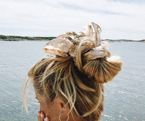 hair, summer, and beach image