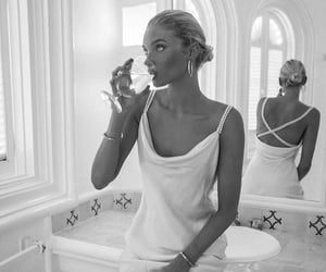 black and white, elsa hosk, and indie image