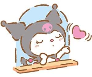 kuromi, sanrio, and sticker image