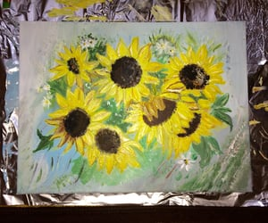 aesthetic, flowers, and paint image