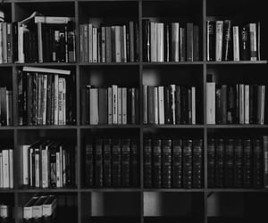 black and books image