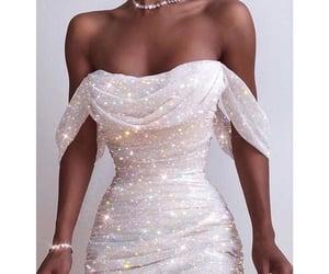 diamond, girl, and glitter image