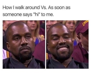 funny, kanye west, and meme image