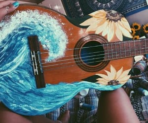 aesthetic, art, and guitar image