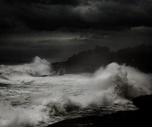 ocean, sea, and dark image