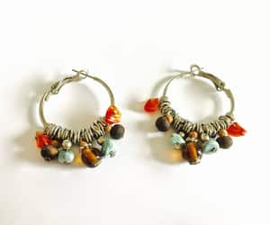 etsy, southwestern, and silver earrings image