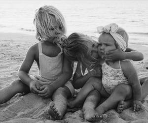 adorable, babies, and beach image
