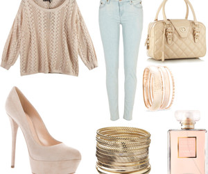 bracelets, perfume, and clothes image