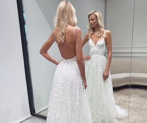 bridal gown, dress, and bride image