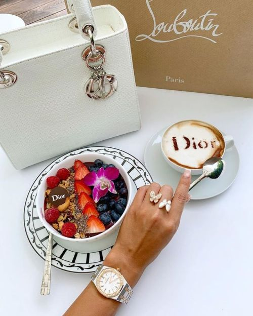 dior, coffee, and breakfast image