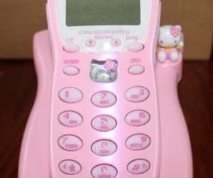 hello kitty, phone, and princess image