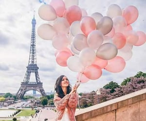 paris, balloons, and girl image