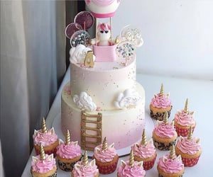 cake, cute, and pink image