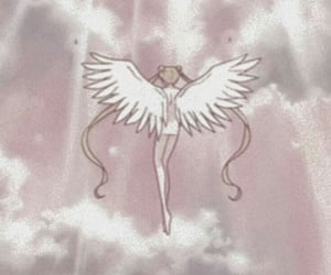 sailor moon, angel, and anime image