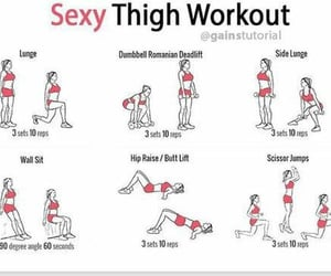 exercises, workout, and slimmer legs image