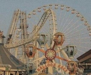 vintage, aesthetic, and amusement park image