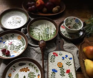 bowls, cottage, and countryside image