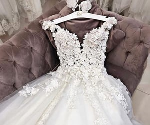 bridal gown, bride, and dress image