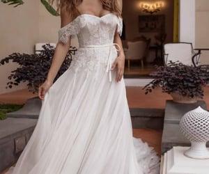 bride, wedding dress, and boho image