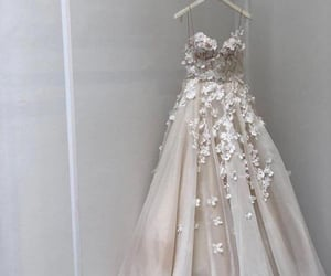 bridal gown, wedding day, and wedding dress image
