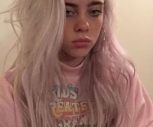 billie eilish, aesthetic, and pink image