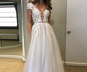 bridal gown, gown, and wedding image
