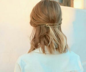 blouse, bob, and hair image