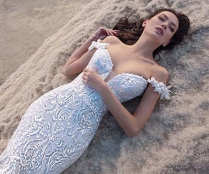 bridal gown, gown, and wedding dress image