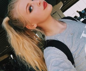 ash, blonde, and hair image