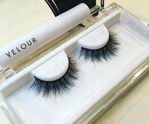 eyelashes, lashes, and makeup image