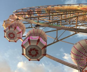 ferris wheel, fun fair, and photography image