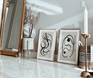 art, beige, and chic image