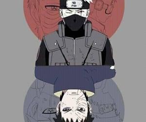 kakashi, naruto, and obito image